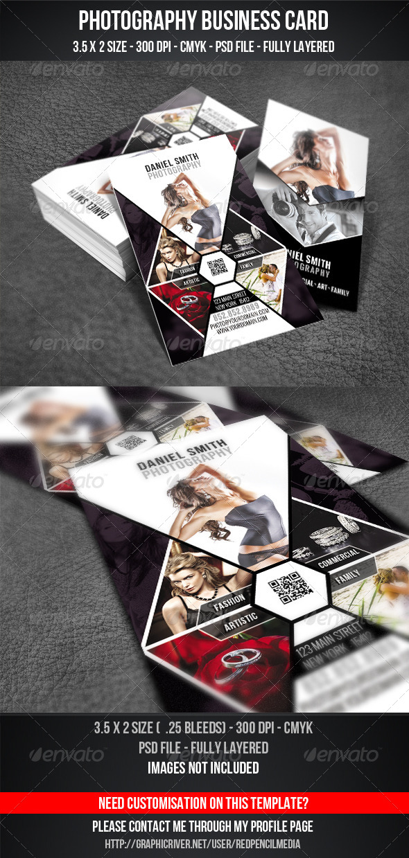 GraphicRiver Photography Business Card 4187608