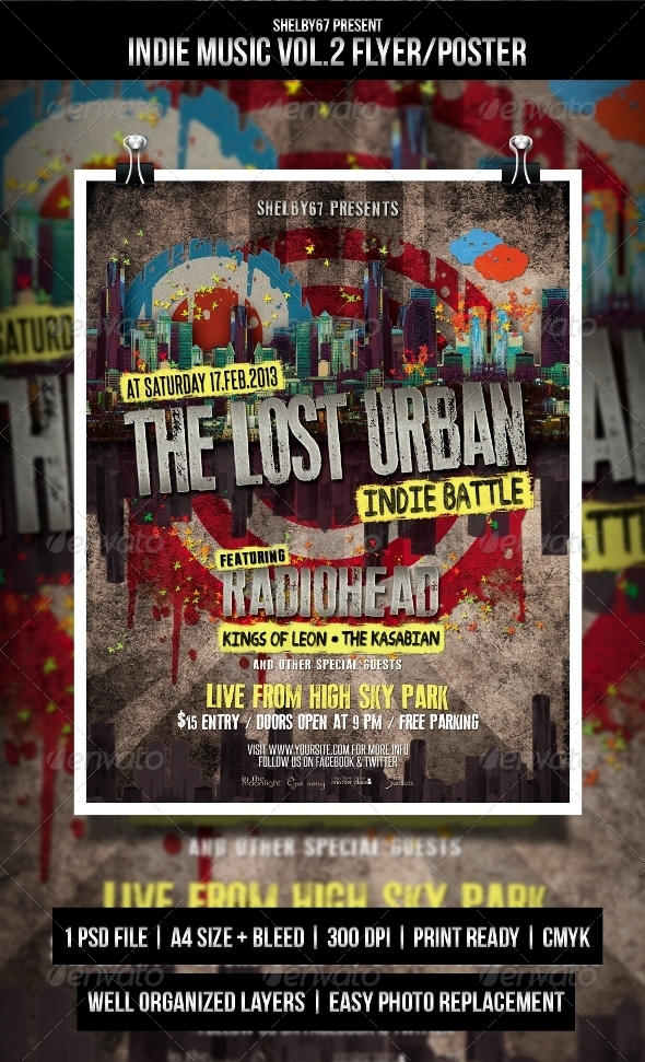 GraphicRiver Indie Music Flyer Poster Vol.2 4325248
