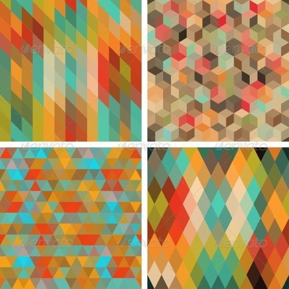 GraphicRiver Seamless Abstract Geometric Patterns Set 4325639