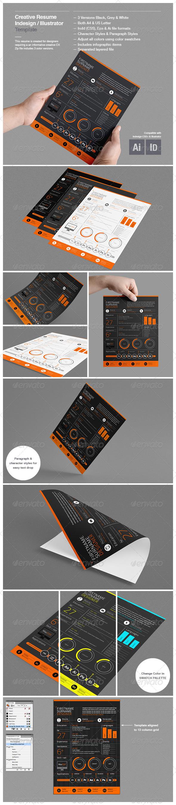 GraphicRiver Creative Resume Template 4325670