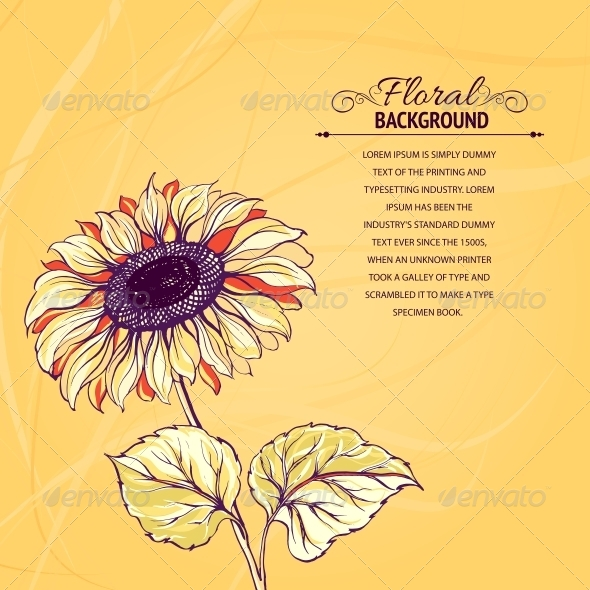 GraphicRiver Illustration of Sunflower 4325671