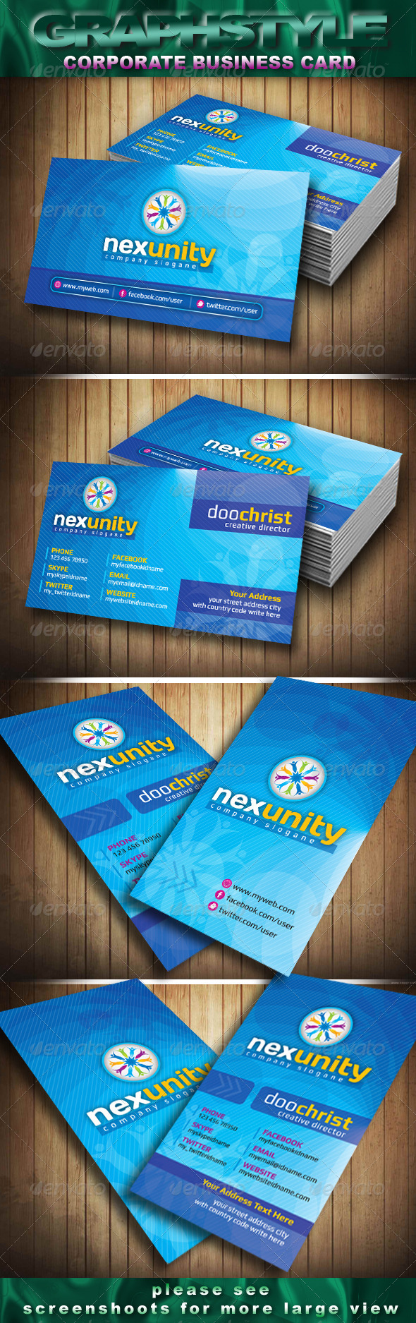 GraphicRiver Nexunity Corporate Business Card 4325705