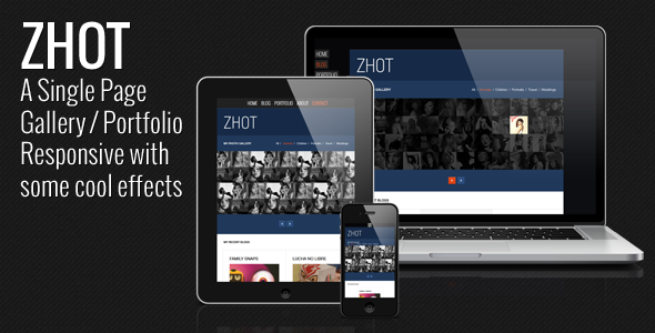 ZHOT Responsive HTML Gallery & Portfolio Blog