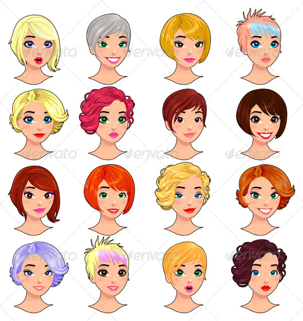 Fashion Female Avatars.  - People Characters