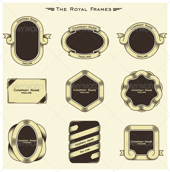 The Royal Frames - Borders Decorative