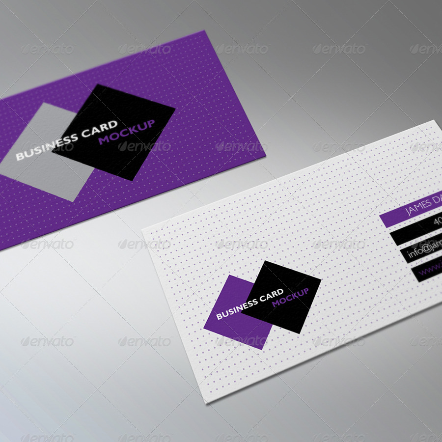 Realistic Business Card Mock Ups by elenadodevska