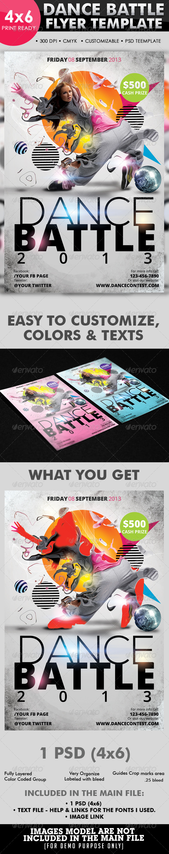Dance Battle Flyer Template - Flyers Print Templates