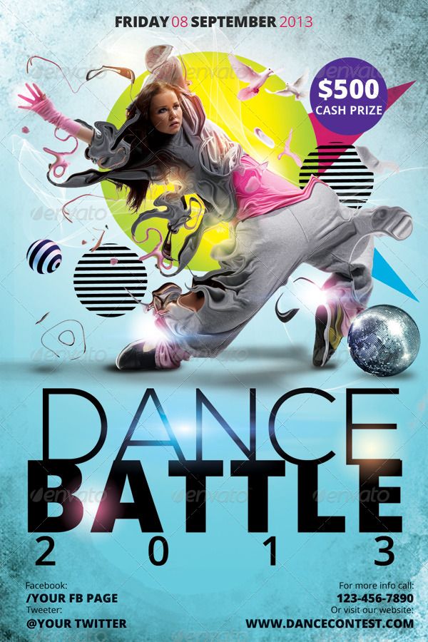 Dance Battle Flyer Template by hermz | GraphicRiver