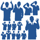 Business Man Silhouettes - GraphicRiver Item for Sale