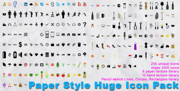 Paper Style Huge Icon Pack
