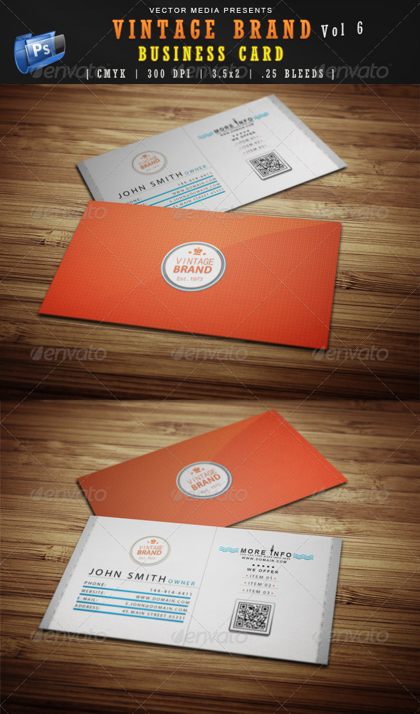 Vintage Brand - Business Card [Vol 6] - Retro/Vintage Business Cards