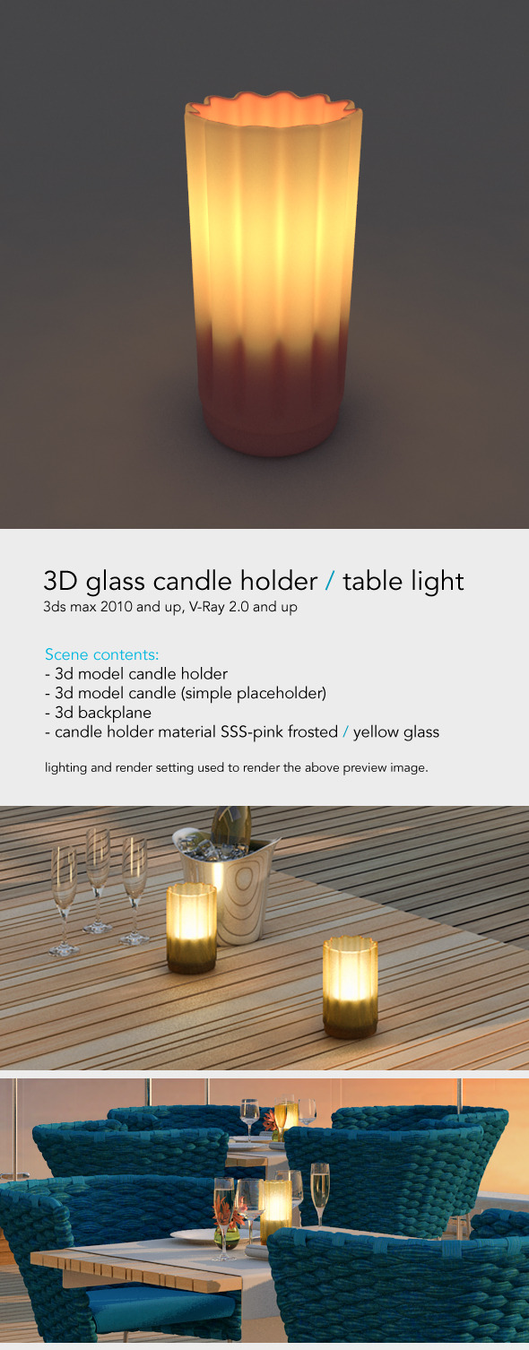 Table light - Restaurant Candle - 3DOcean Item for Sale