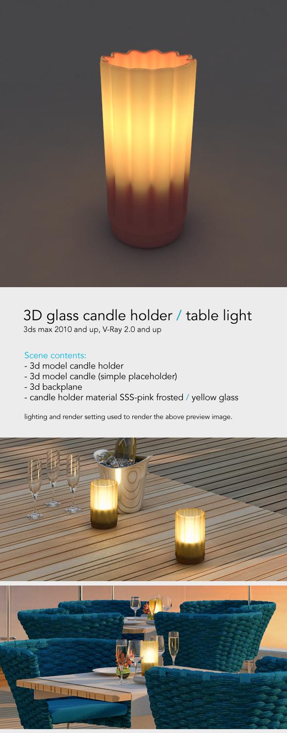 3DOcean Table light Restaurant Candle 4328689