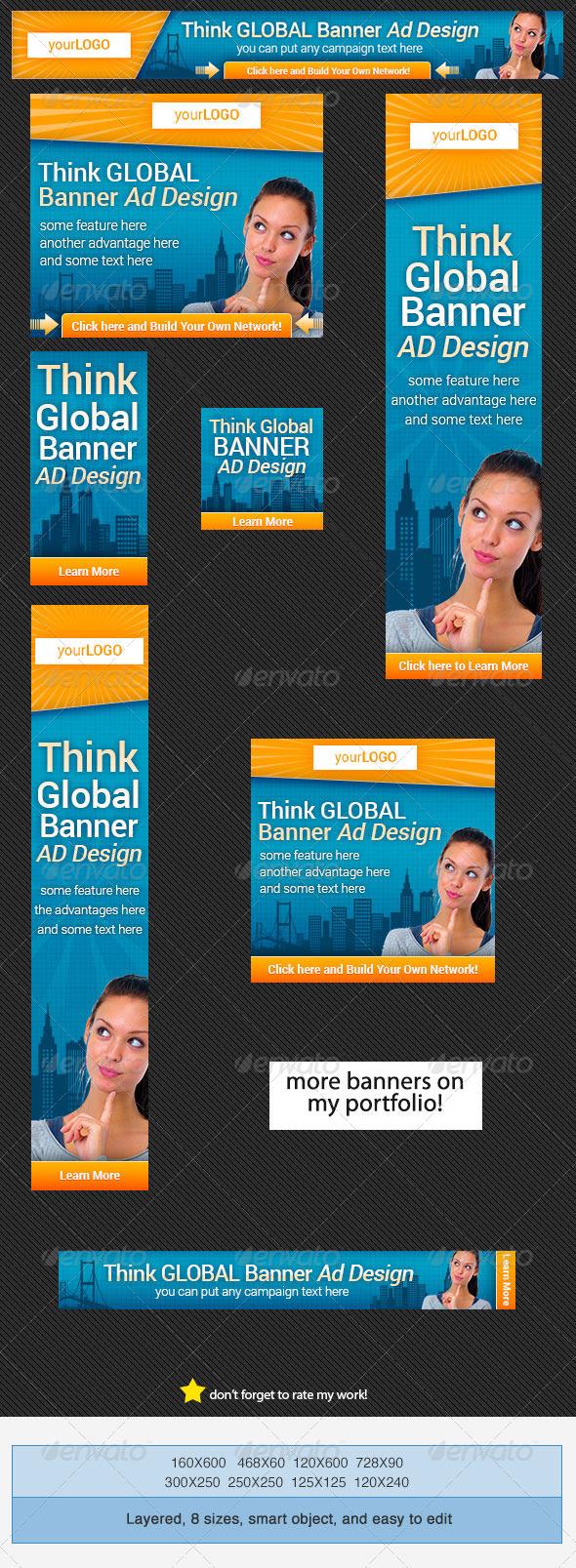 GraphicRiver Global Banners Set 4329190