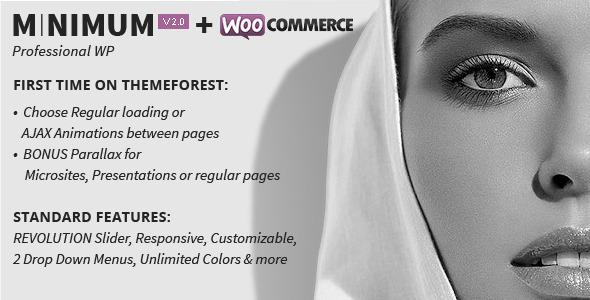 MINIMUM - Professional WordPress Theme - ThemeForest Item for Sale