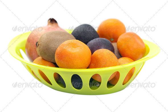 Plate of Fruits - Stock Photo - Images
