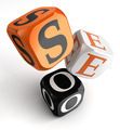 seo orange black dice blocks - PhotoDune Item for Sale