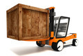 fork lifter transporting wooden crate - PhotoDune Item for Sale