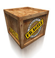 wooden box crate with grunge fragile symbol - PhotoDune Item for Sale