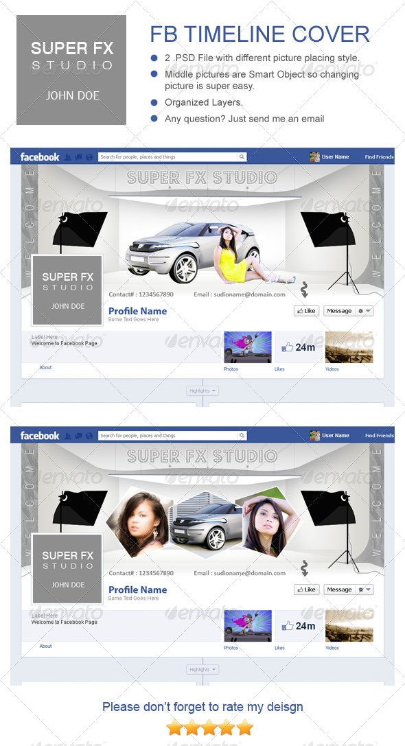 GraphicRiver Mulipurpose Photography FB Timeline Cover 4272095