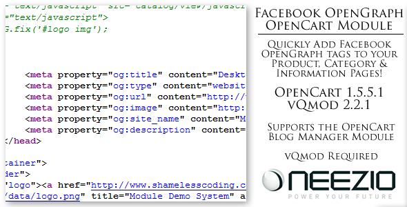 Facebook OpenGraph Module for OpenCart vQmod