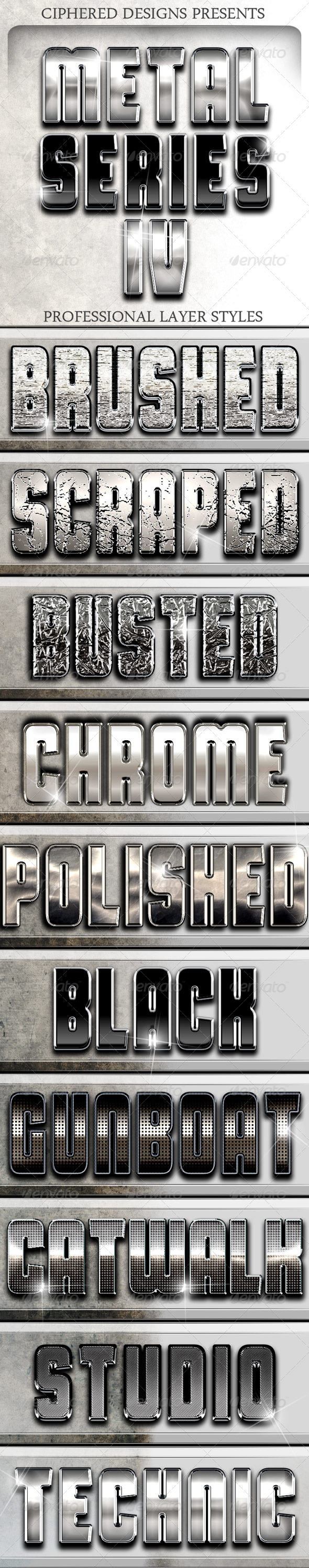 GraphicRiver Metal Series IV Professional Layer Styles 4332041