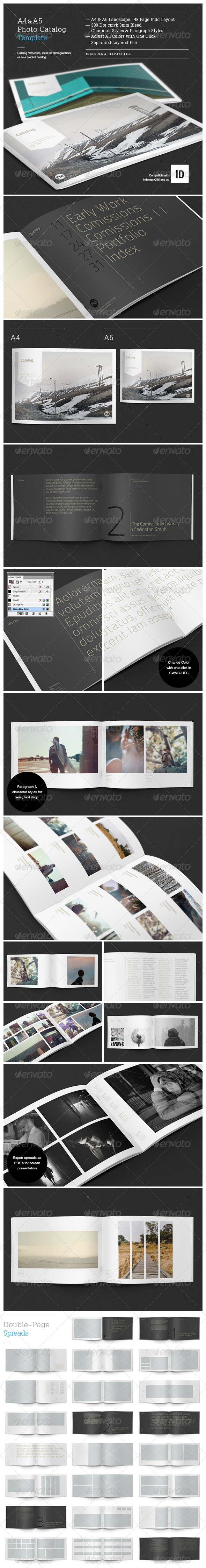 Minimal Photo Catalog Template - Brochures Print Templates