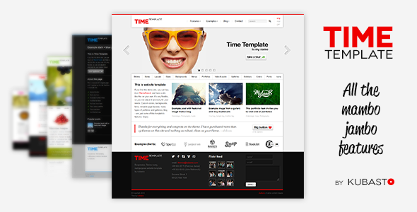 ThemeForest Time Responsive Website Template 4279726
