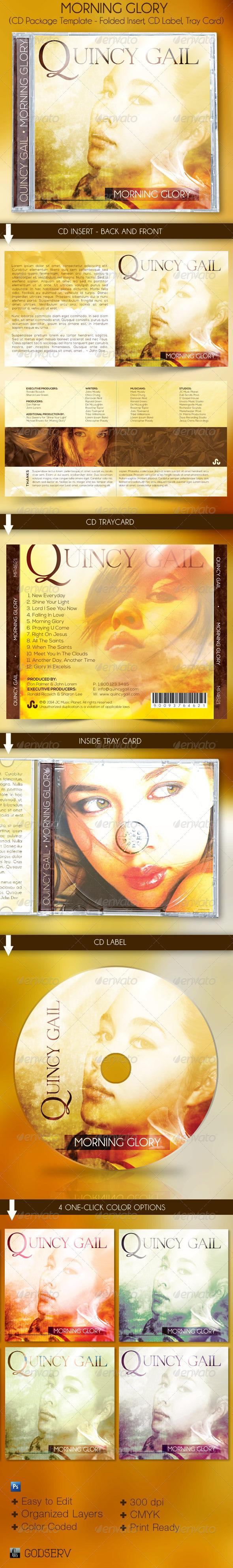 Morning Glory CD Artwork Template - CD & DVD Artwork Print Templates
