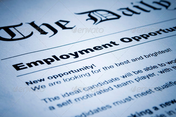 Stock Photo - PhotoDune Employment ad on newspaper 466185