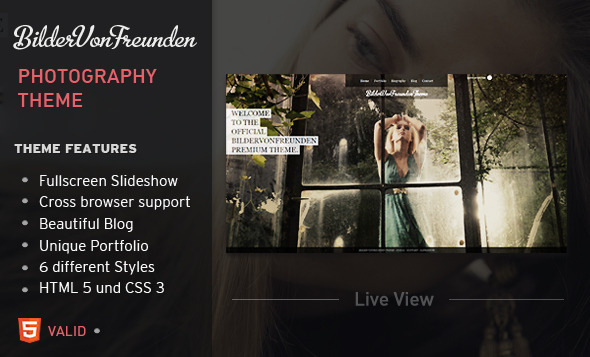 Bildervonfreunden HTML Fullscreen Portfolio Theme