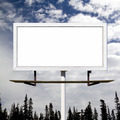Blank Billboard Against Blue Sky Background - PhotoDune Item for Sale
