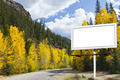 Blank Billboard Along Mountain Road in Fall - PhotoDune Item for Sale