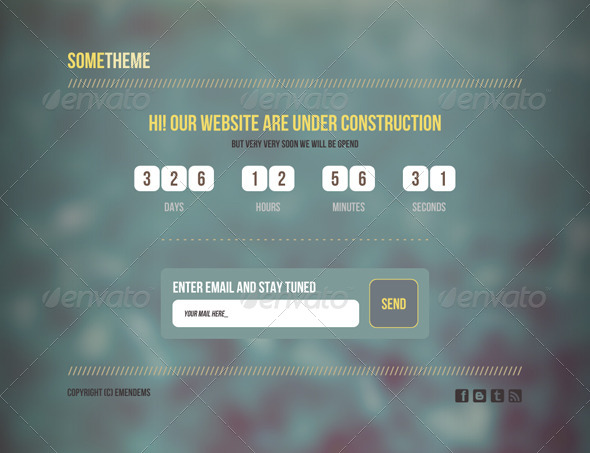 GraphicRiver SomeTheme Under Construction Page 4333089