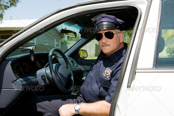 Police Officer On Duty - Stock Photo - Images