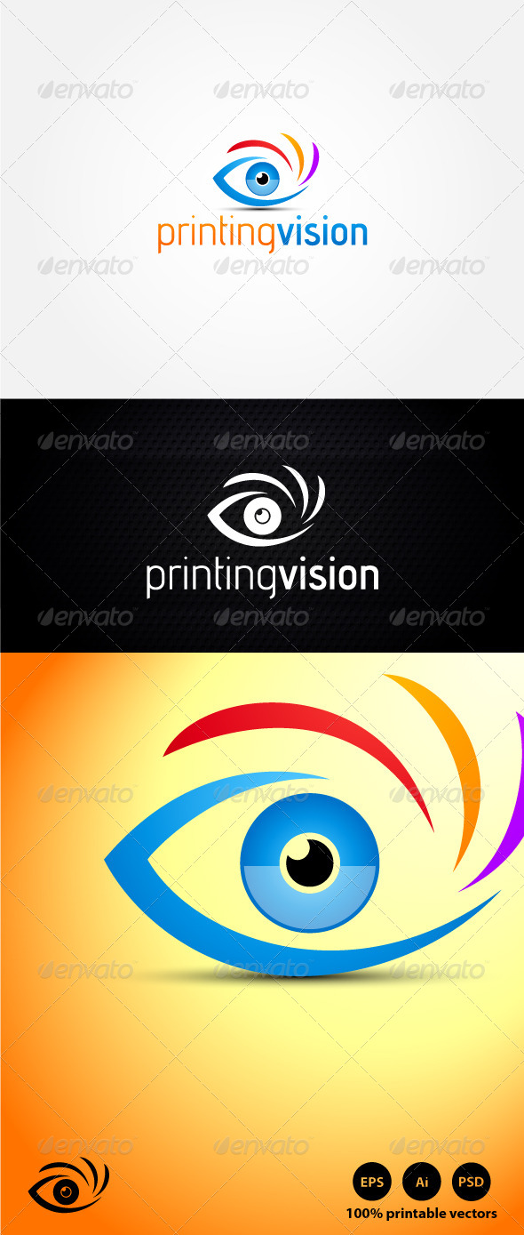 Printing Vision Logo - Abstract Logo Templates
