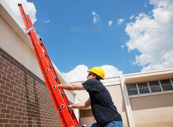 Stock Photo - PhotoDune Worker Climbing Up 466438