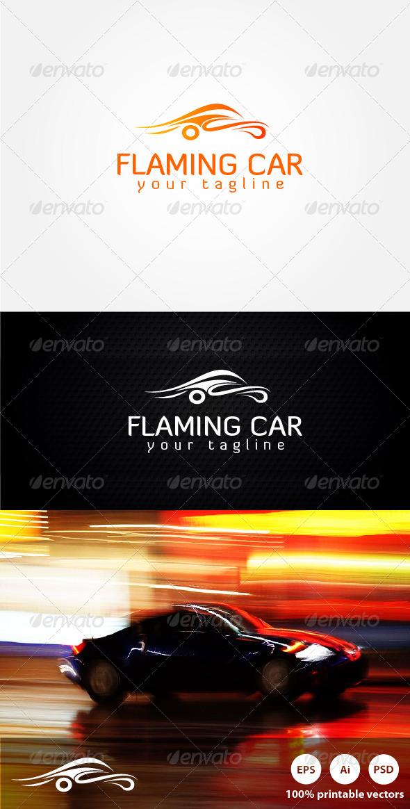 GraphicRiver Flaming Car Logo 4219752