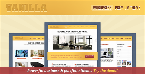 vanilla - Corporate & Portfolio Wordpress Theme - Some of the main vanilla Wordpress Theme features: