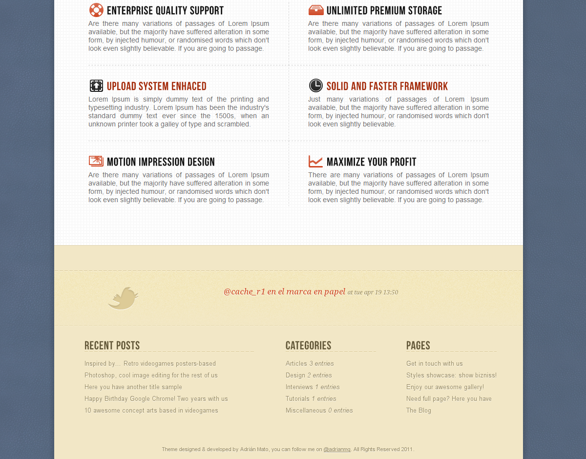 vanilla - Corporate & Portfolio Wordpress Theme - Show and explain your services at homepage.