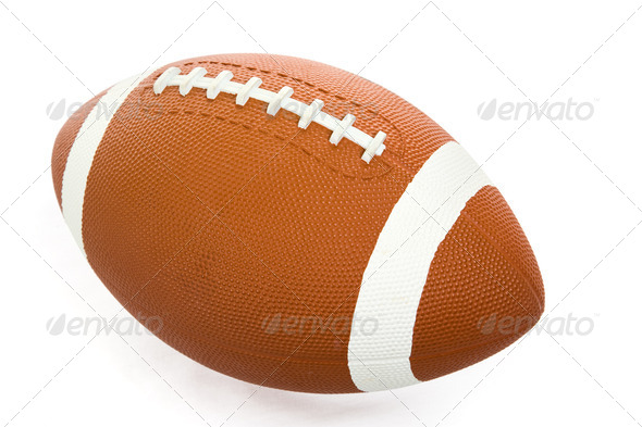 Football Isolated with Path - Stock Photo - Images