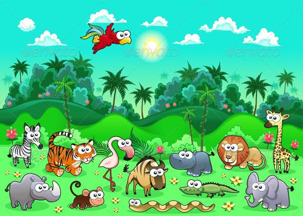 GraphicRiver Jungle Animals 4335840