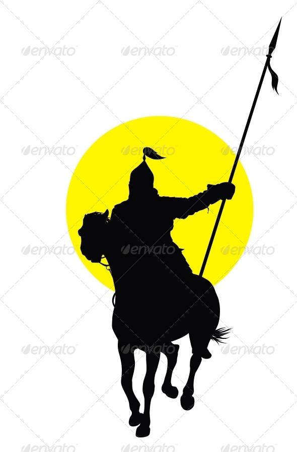 Логотип человек на коне