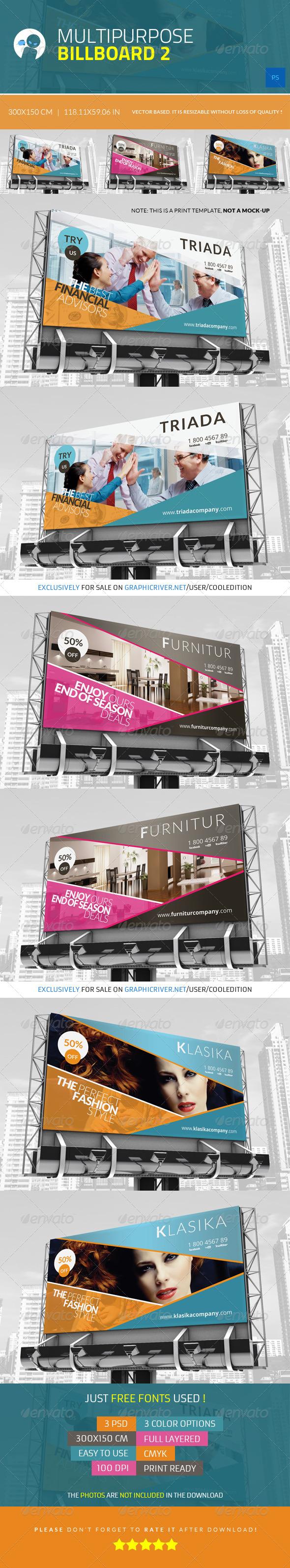 GraphicRiver Multipurpose Billboard 2 4337425