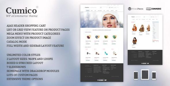Cumico WP eCommerce theme - ThemeForest Item for Sale