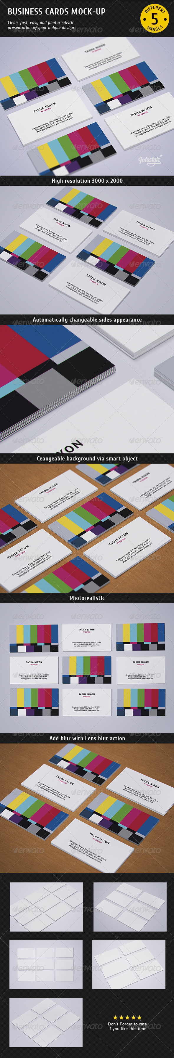GraphicRiver Business Cards Studio Mock-up 2 4337616