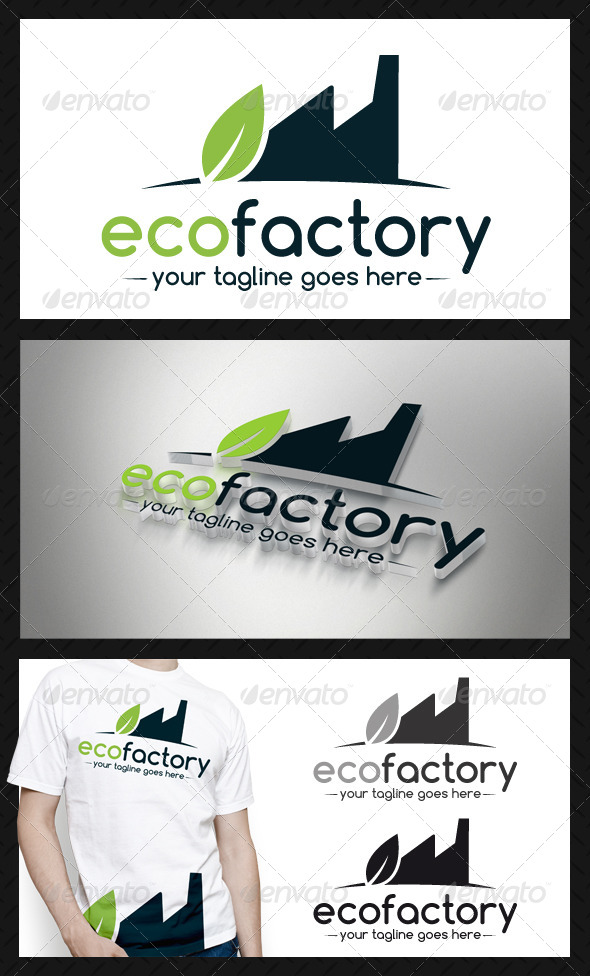 GraphicRiver Eco Factory Logo Template 4337856