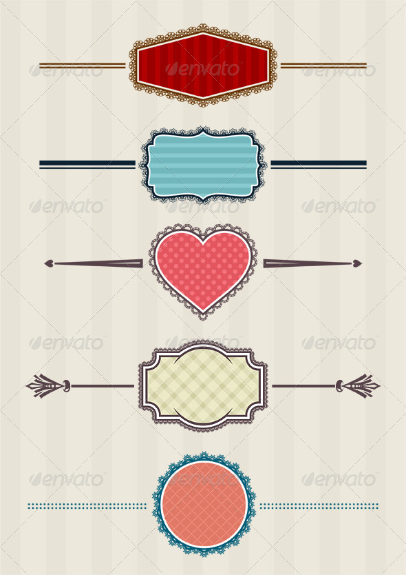 GraphicRiver 5 Laced Badges 4337858