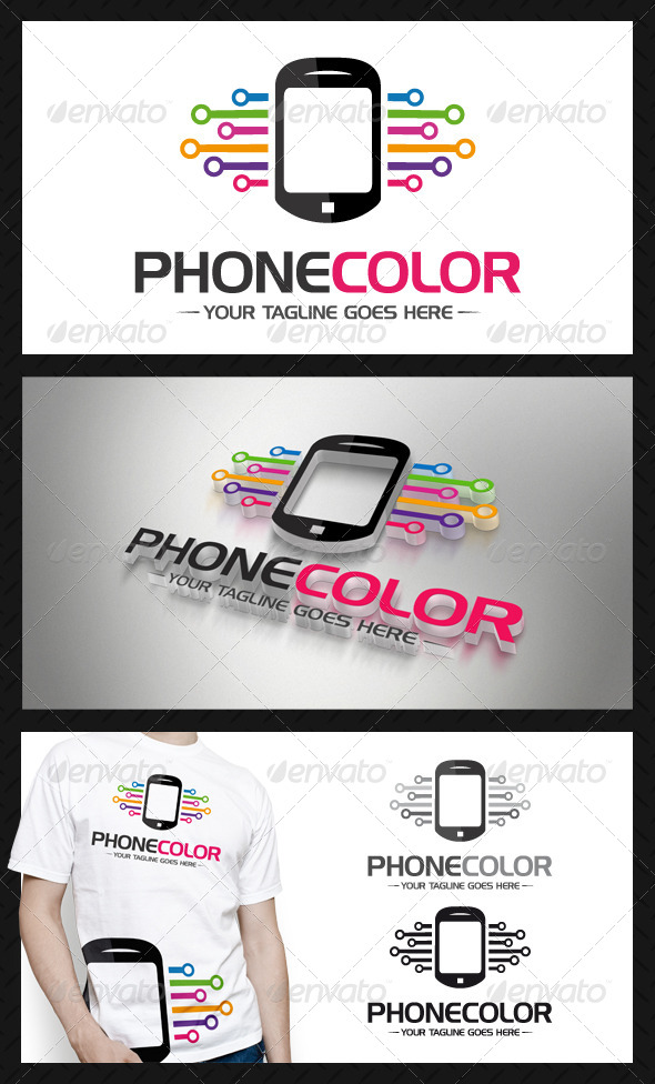 GraphicRiver Phone Connection Logo Template 4338102