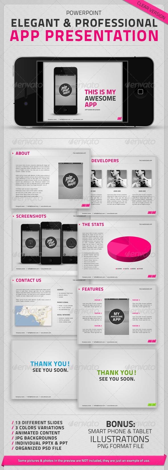 GraphicRiver The App Presentation Clear Version 466861